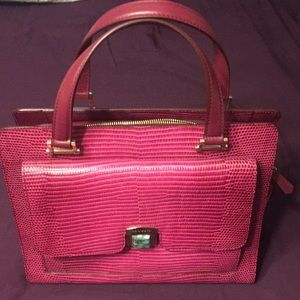 Etro pink leather handbag